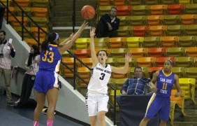Aggie women snap five-game skid against Spartans