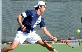 Men's tennis sweeps weekend in Montana