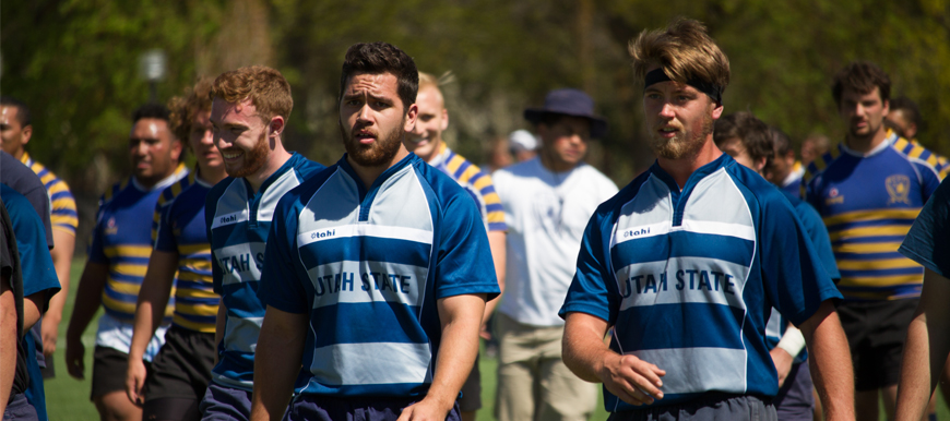 Utah State Men S Rugby Team Won Its Quarterfinal Matchup 42 31 Over The Salt Lake Community College Bruins In Logan At Aggie Legacy Fields On Saay