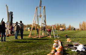 Fifth annual USU Pumpkin Toss most successful yet
