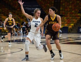 Aggie women's basketball falls to first place Cowgirls