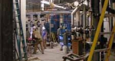 Heating plant nears completion
