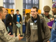 Students and recruiters meet at Career Fair