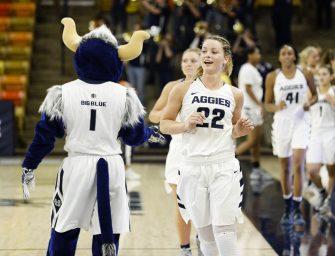 USU women's basketball triumphs over UVU 56-45